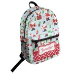 Santas w/ Presents Student Backpack (Personalized)