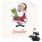 Santas w/ Presents Sublimation Transfer (Personalized)