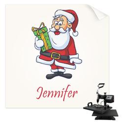 Santas w/ Presents Sublimation Transfer (Personalized)