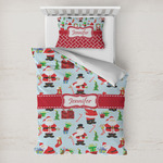 Santa and Presents Toddler Bedding w/ Name or Text