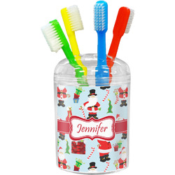 Santa and Presents Toothbrush Holder (Personalized)