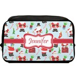 Santas w/ Presents Toiletry Bag / Dopp Kit (Personalized)