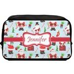 Santas w/ Presents Toiletry Bag / Dopp Kit (Personalized)