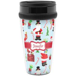 Santas w/ Presents Travel Mugs (Personalized)