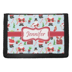 Santas w/ Presents Trifold Wallet (Personalized)