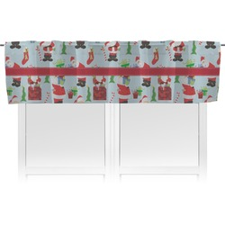 Santas w/ Presents Valance (Personalized)