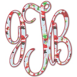 Santas w/ Presents Monogram Decal - Custom Sized (Personalized)