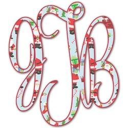 Santa and Presents Monogram Decal - Custom Sizes (Personalized)
