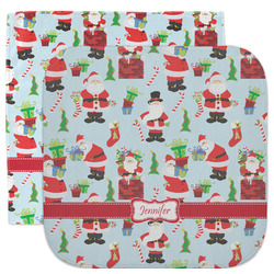 Santa and Presents Facecloth / Wash Cloth (Personalized)