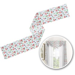 Santas w/ Presents Window Sheer Scarf Valance (Personalized)