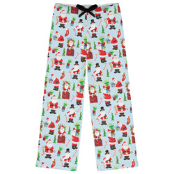 Santas w/ Presents Womens Pajama Pants (Personalized)