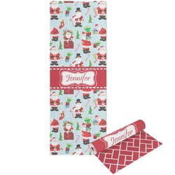 Santas w/ Presents Yoga Mat - Printable Front and Back (Personalized)