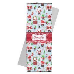 Santas w/ Presents Yoga Mat Towel (Personalized)