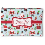 Santas w/ Presents Zipper Pouch (Personalized)