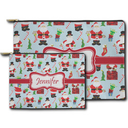 Santa and Presents Zipper Pouch (Personalized)