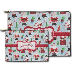 Santas w/ Presents Zipper Pouch (Personalized)