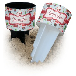 Santa and Presents Beach Spiker Drink Holder (Personalized)