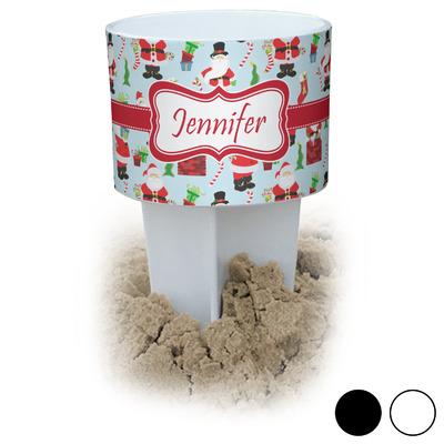 Santas w/ Presents Beach Spiker Drink Holder (Personalized)