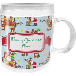 Santa on Sleigh Acrylic Kids Mug (Personalized)