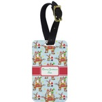 Santa on Sleigh Aluminum Luggage Tag (Personalized)