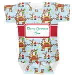 Santa on Sleigh Baby Bodysuit (Personalized)