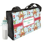 Santa on Sleigh Diaper Bag (Personalized)