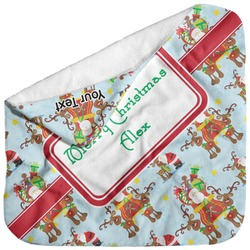 Santa on Sleigh Baby Hooded Towel (Personalized)