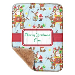Santa on Sleigh Sherpa Baby Blanket 30