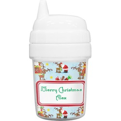 Santa on Sleigh Baby Sippy Cup (Personalized)