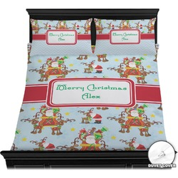 Santa on Sleigh Duvet Cover Set (Personalized)