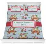 Santa on Sleigh Comforter Set (Personalized)