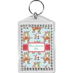 Santa on Sleigh Bling Keychain (Personalized)