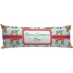 Santa on Sleigh Body Pillow Case (Personalized)