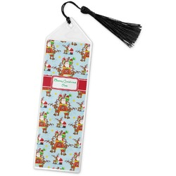 Santa on Sleigh Book Mark w/Tassel (Personalized)