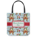Santa on Sleigh Canvas Tote Bag (Personalized)