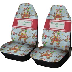 Santa on Sleigh Car Seat Covers (Set of Two) (Personalized)
