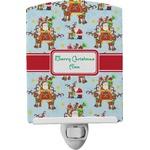 Santa on Sleigh Ceramic Night Light (Personalized)