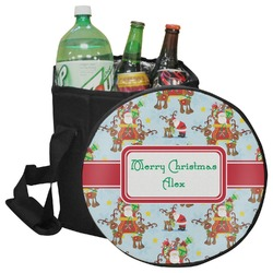 Santa on Sleigh Collapsible Cooler & Seat (Personalized)