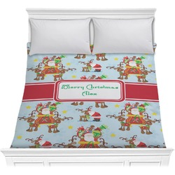 Santa on Sleigh Comforter (Personalized)