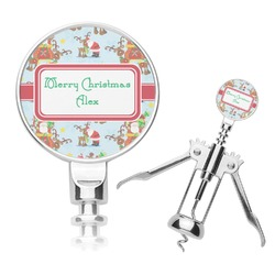 Santa on Sleigh Corkscrew (Personalized)