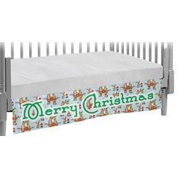 Santa on Sleigh Crib Skirt (Personalized)