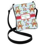Santa on Sleigh Cross Body Bag - 2 Sizes (Personalized)