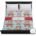 Santa on Sleigh Duvet Cover (Personalized)