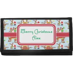 Santa on Sleigh Checkbook Cover (Personalized)