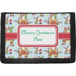 Santa on Sleigh Trifold Wallet (Personalized)