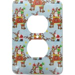 Santa on Sleigh Electric Outlet Plate (Personalized)