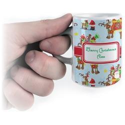 Santa on Sleigh Espresso Mug - 3 oz (Personalized)