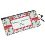 Santa on Sleigh Genuine Leather Eyeglass Case (Personalized)
