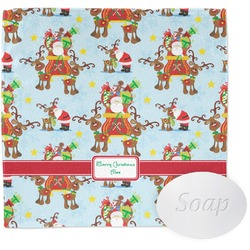 Santa on Sleigh Wash Cloth (Personalized)