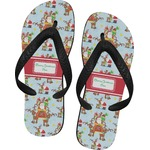 Santa on Sleigh Flip Flops (Personalized)